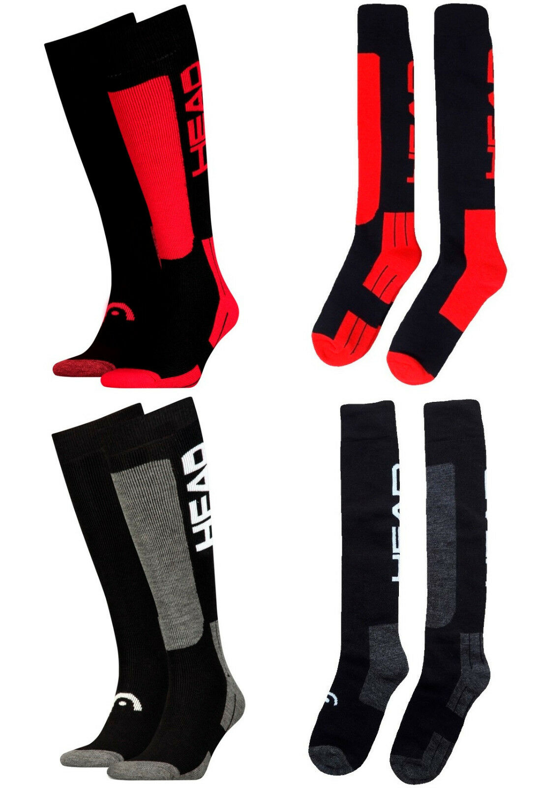 2 Paar HEAD CLASSIC Skisocken Thermo Kniestrümpfe Ski Snowboard Socken knielang