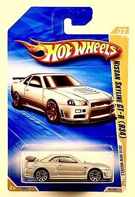 2010 Hot Wheels New Models Nissan Skyline GT-R R34 Silver VHTF 07/240