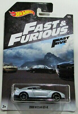 Hot Wheels 2018 Fast and Furious fast 5 2009 nissan GT-R silver 1:64 #5/6