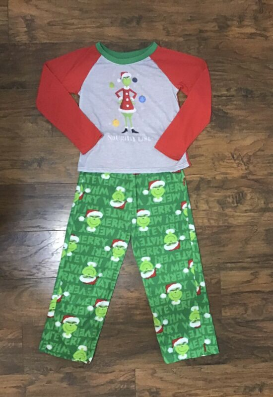 Grinch Kids Size 10 Pajamas