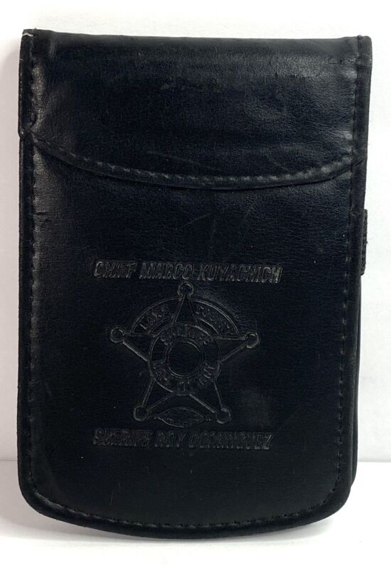 Lake County Sheriff Black Leather Note Pad Holder