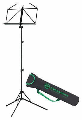 KM 1005 Standard Notenständer Set Schwarz Notenpult Verstellbar Tasche Nylon