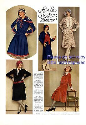 Great street dress fashion photo illustrations 1929 Dinzl Witzelshuber 20s germa