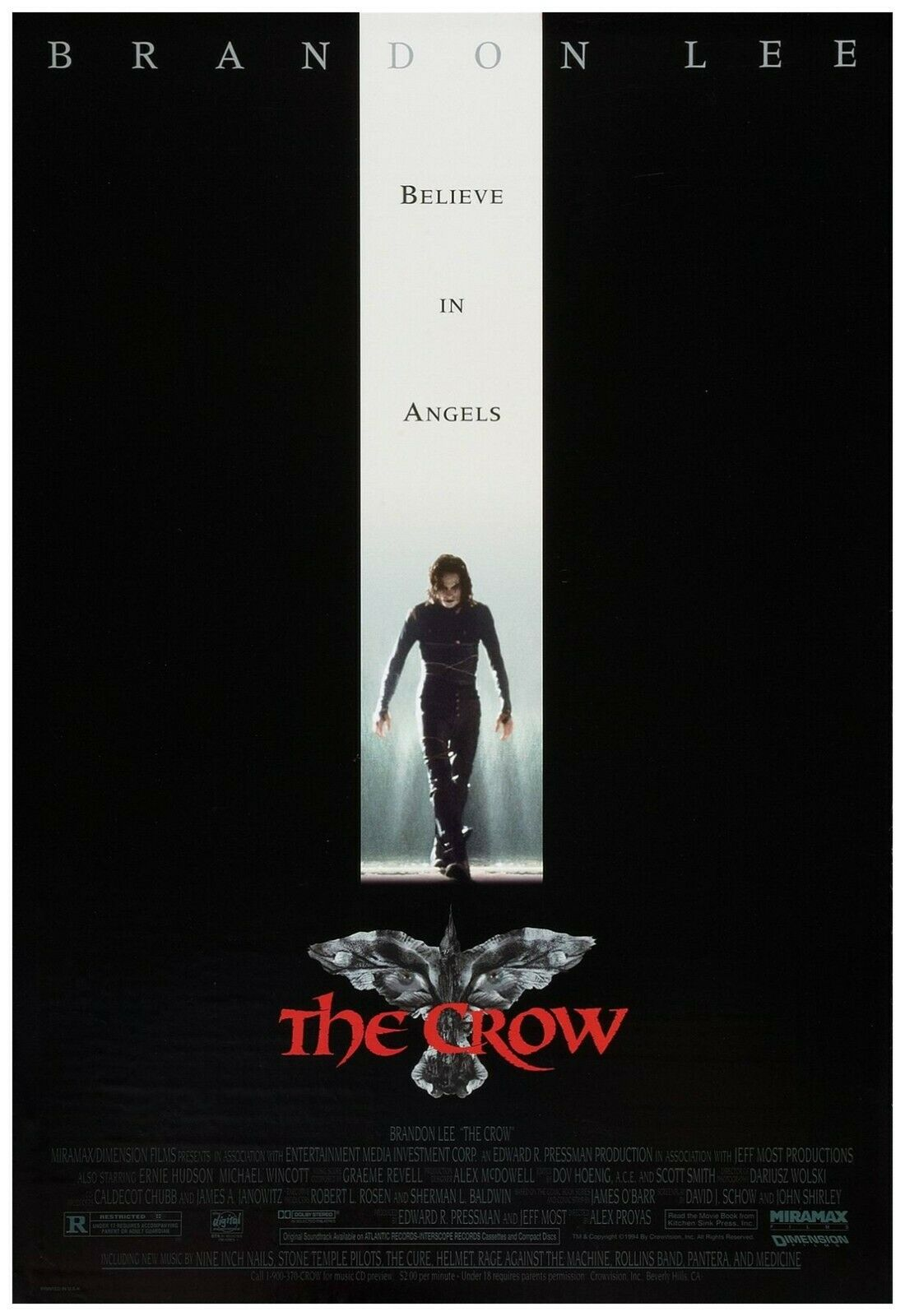 """The Crow Movie Poster Full Color Print - Wall Art - 24x36"""""""