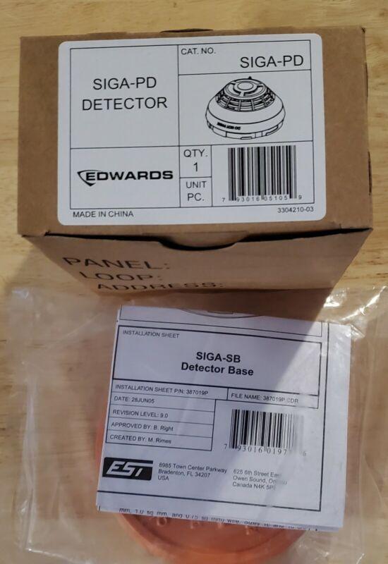 Lot of 5 Edwards SIGA-PD smokes  ,  siga-sb bases ...new...free shipping
