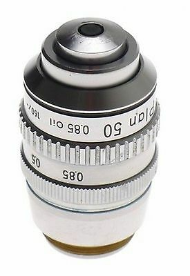 Nikon Microscope Objective Lens Used 50x Plan 50085 Oil Clean 160- No 230424