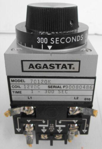 Agastat 7012QK Time Delay Relay 1-300Sec 12VDC
