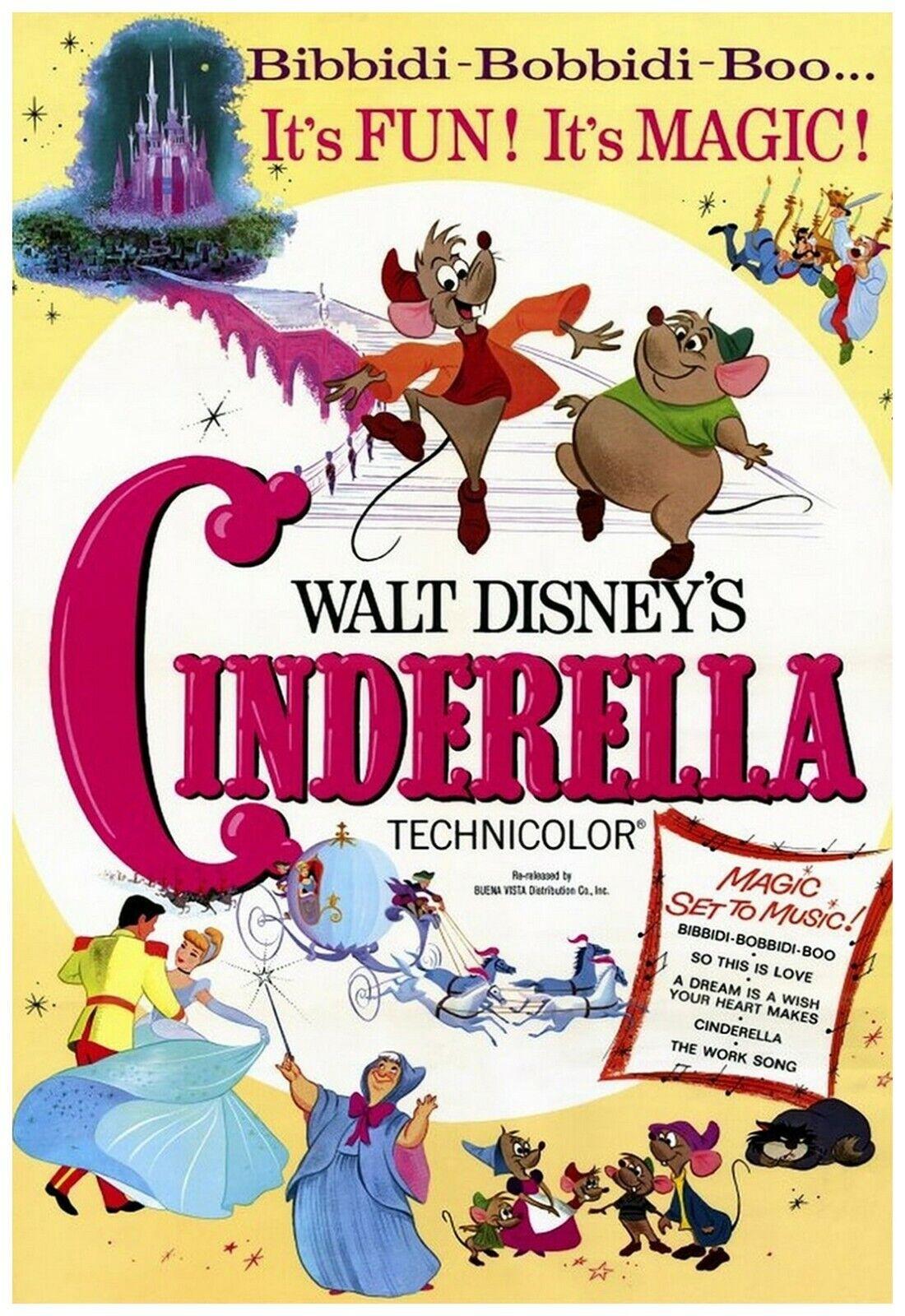 Cinderella Movie Poster 11x17 Inch Wall Art Portrait Print -