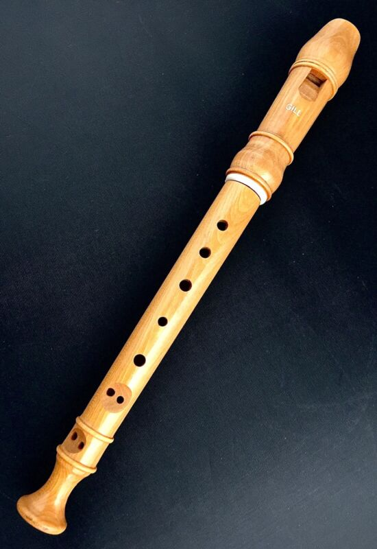 GILL WOODEN RECORDER FLUTE 2 PIECE VINTAGE ISREAL