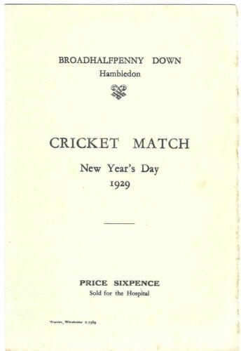 1929 Peter Warlock world premiere programme The Cricketers of Hambledon