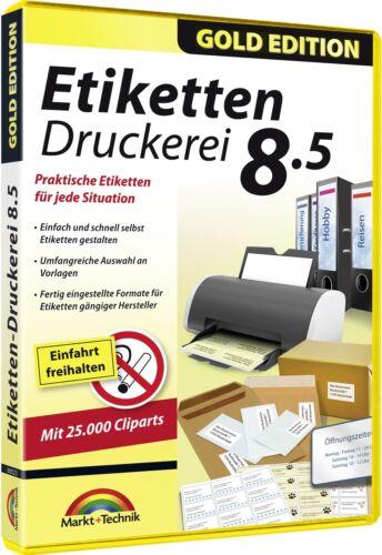 Etiketten Druckerei 8.5 - Etiketten, Barcodes, QR Codes, Adressetiketten uvm.