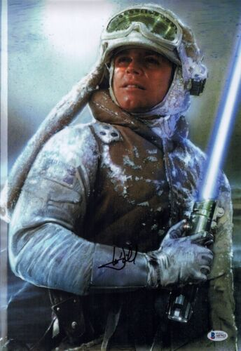 MARK HAMILL Signed STAR WARS Empire Strikes Back 12x18 Photo Autograph BAS COA