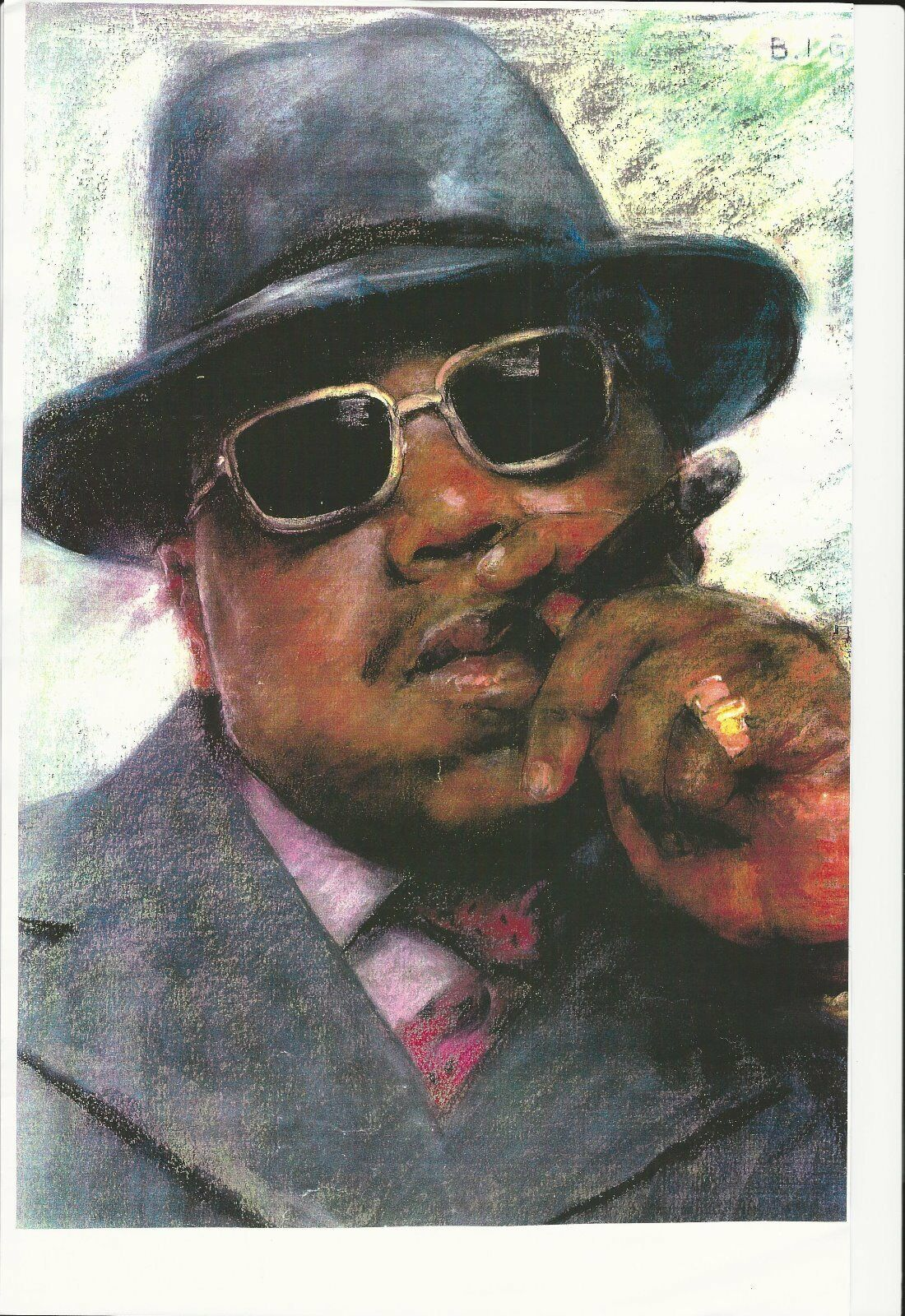 Biggie big great rapper 11 x 17 color high gloss poster collectors item