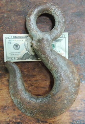Large Old Crane Lifting Hook Rigging Nautical