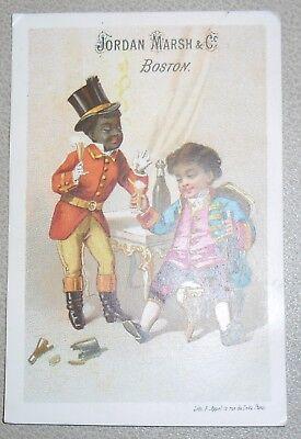 Victoria Trade Card Jordan Marsh & Company Boston Massachusetts Black Theme