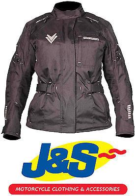 IXS Chia Ladies Textile Motorcycle Jacket Womens Motorbike Coat Anorak Black J/&S