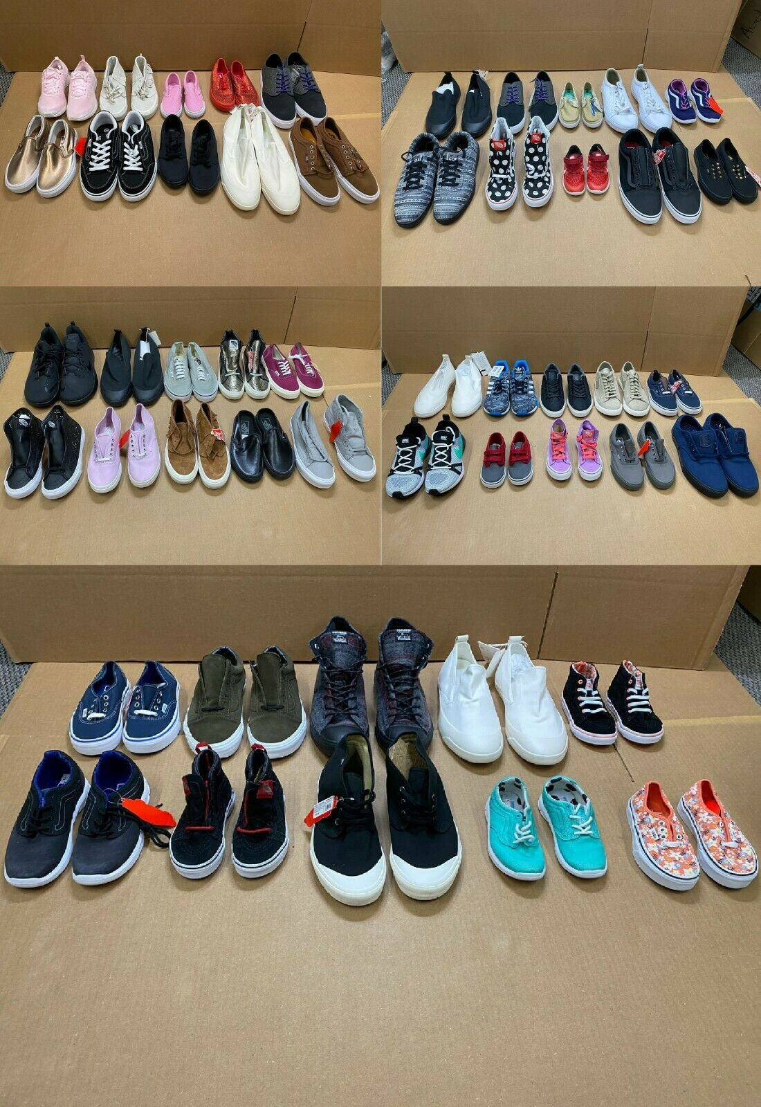 Lot (50) VANS Converse Resale Shoes Sneakers MTE Sk8 Hi Chuck Taylor Wholesale