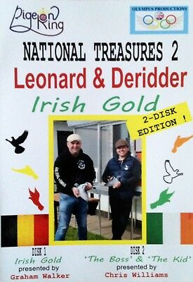 RACING PIGEON DVD - National Treasures 2; Leonard & Deridder, Irish Gold 2-DISK