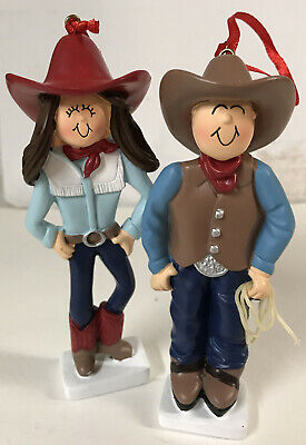 Cute Cowboy & Cowgirl Ornaments good for Christmas, Easter & Party Decor set/2](Cowboy Christmas Decorations)