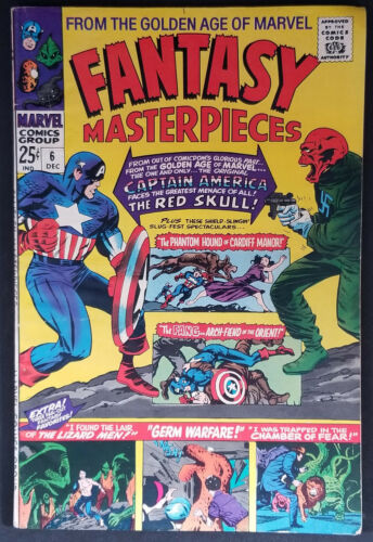 Fantasy Masterpieces #6 FN/VF 1966 Giant Kirby Captain America Bucky Red Skull