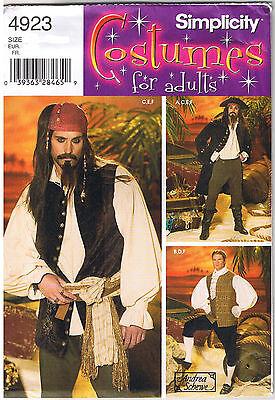 Herren Pirat Renaissance Kolonial 18. Jahrhundert Nobelman Kostüm Muster XS S (Renaissance Herren Kostüm Muster)
