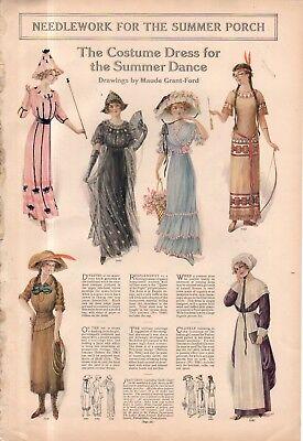 1912 Original Fashion Druck - Kostüm Kleider für den Sommer Tanz ()