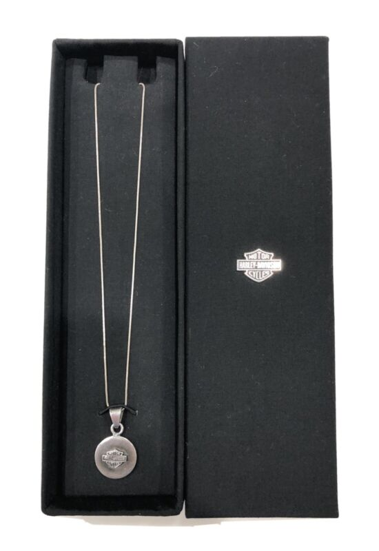 """Harley Davidson 925 Pendant Necklace Sterling Silver 18"""" Chain"""