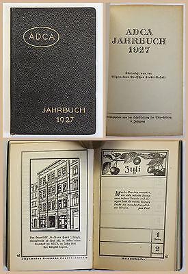 ADCA Jahrbuch 1927 Allgemeine Deutsche Credit-Anstalt Kalender Kalendarium xz