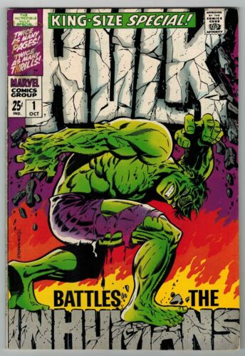 HULK KING-SIZE SPECIAL # 1 - CLASSIC STERANKO COVER - VS. INHUMANS - STRICT VG+