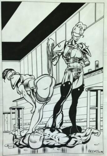 Original comic art page Unpublished comics pinup splash page!