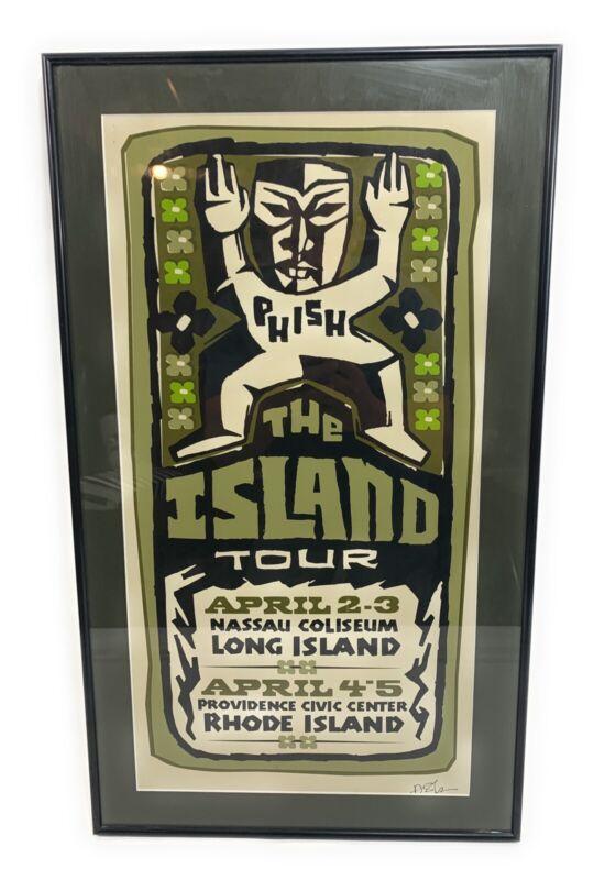 Framed PHISH ISLAND TOUR 2005 LIMITED EDITION ***RARE***