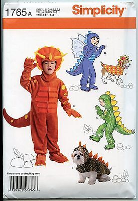 Dinosaur Costumes for Kids & their Dogs - Simplicity Sewing Pattern - Sizes 3-8](Dog Costumes For Children)