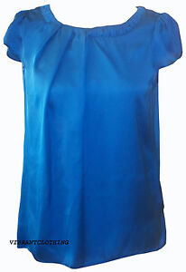 NEW WOMENS DOROTHY PERKINS SATIN FEEL PIN TUCK NECKLINE BUTTON BACK BLOUSE TOP