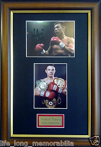KOSTYA TSZYU THUNDER FROM DOWN UNDER SIGNED AND FRAMED