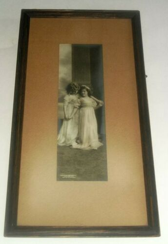 Edwardian Young Girls Photo United Art Publishing Co NY Germany Frame Lebanon PA
