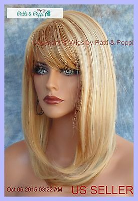 HUMAN HAIR BLEND HEAT FRIENDLY WIG BLONDE F27.613 SEXY FOXY STYLE USA SELLER (Sexy New Style Blonde Wig)