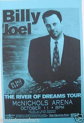 "BILLY JOEL 1996 ""RIVER OF DREAMS TOUR"" DENVER CONCERT POSTER - Piano Rock Music"
