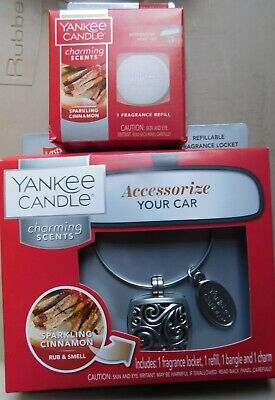 New Yankee Candle CharmSparkling Cinnamon 2 Piece Starter Kit and a Refill