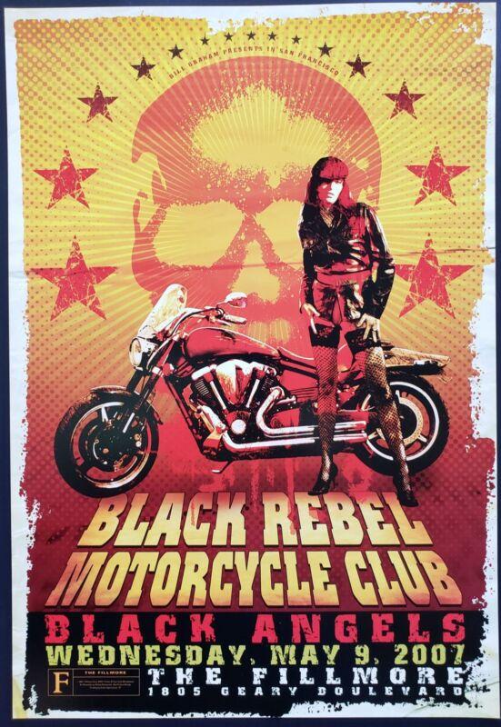 Black Rebel Motorcycle Club Concert Poster 2007 F-873 Fillmore