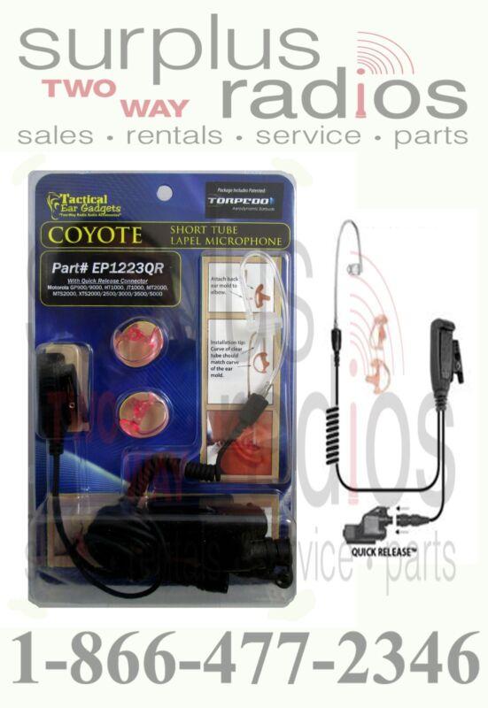 New Coyote Quick Disconnect Lapel Microphone PTT XTS1500 XTS2500 XTS3000 XTS5000