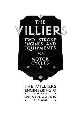 (1432) 1928 Villiers Sales catalogue & Instruction book