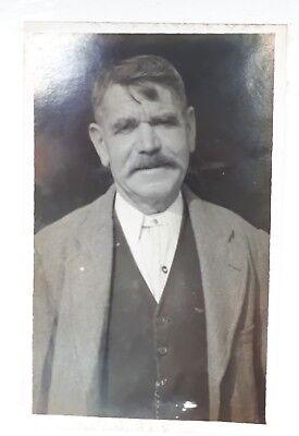 New 1930s Mens Fashion Ties 1930s B/W Photograph. Portrait of an Older Man. Stiff Collar, no Tie. Patriarch $7.02 AT vintagedancer.com
