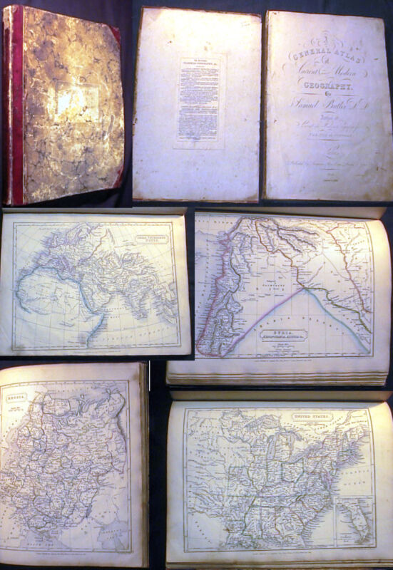1826 - 1832 WORLD ATLAS ANCIENT & MODERN GEOGRAPHY HAND COLOR