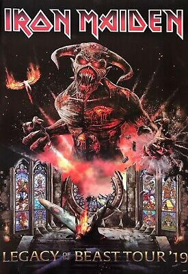IRON MAIDEN LEGACY OF THE BEAST TOUR 19 POSTER FROM ASIA - Heavy Metal Music - $11.99