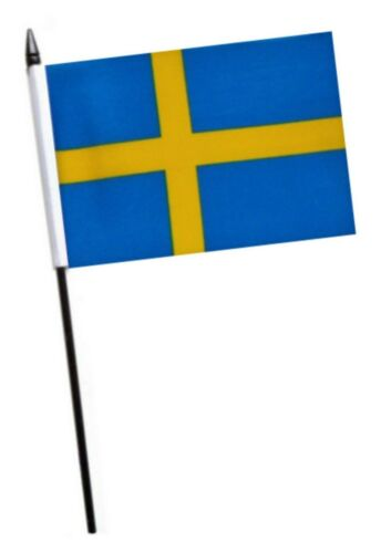 Sweden Small Hand Waving Flag