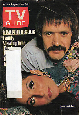 1976 TV Guide - Sonny and Cher - Donny and Marie - Bill Veeck - Family Viewing