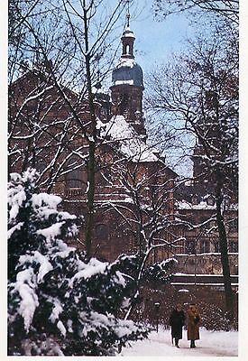 Alte Postkarte -  Wintertag im Würzburger Hofgarten