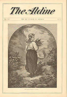 Girl With Flowers In Her Hair, The Village Beauty, Vintage 1874 Antique Print.](The Village Costume)