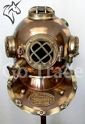 Morse US Navy Vintage Dive Helmet Mark V Antique Diving Divers Helmet Best GIFT