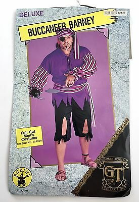 Buccaneer Barney Pirate Halloween Costume Caribbean Adult Mens Sz 42-50](Barney Halloween Costume Adults)